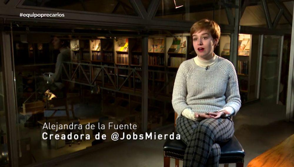 La periodista Alejandra de la Fuente ha creado 'MierdaJobs'