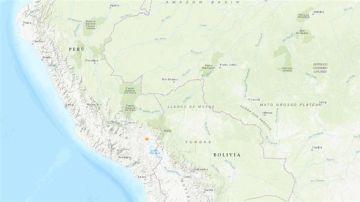 Mapa del lugar donde ha ocurrido el terremoto