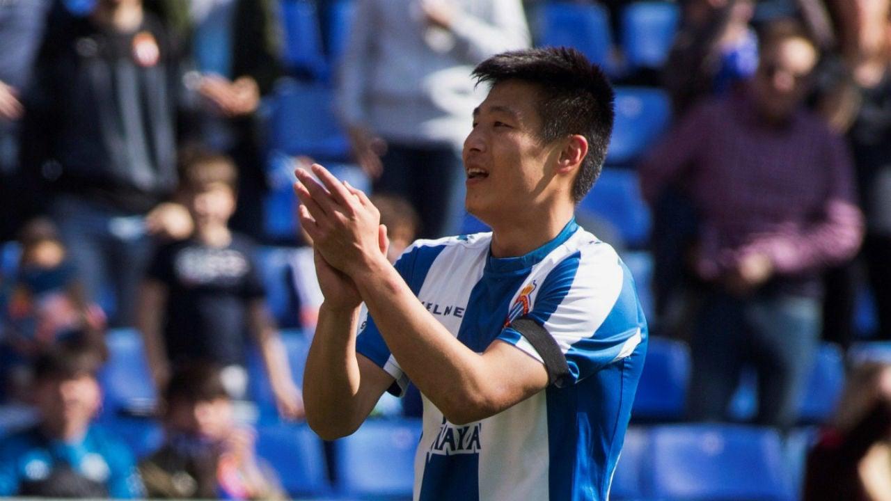 Wu Lei, con el Espanyol
