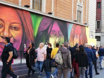 Mural Día Internacional de la Mujer, Gran Vía