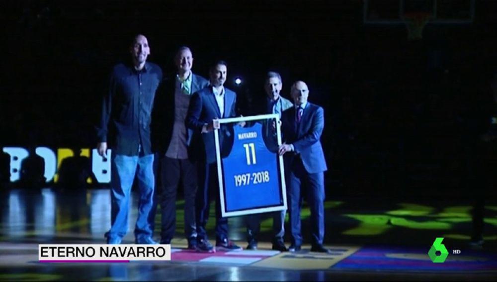 """El Barcelona Lassa rinde un emotivo homenaje a Juan Carlos Navarro: """""""