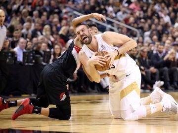 Marc Gasol, en el choque contra Portland