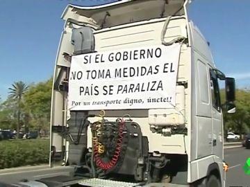 Huelga de camioneros en Valencia