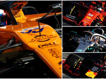 Carlos Sainz, Vettel, Hamilton y Verstappen
