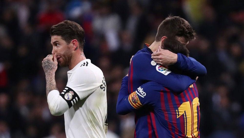 Sergio Ramos, en El Clásico del Bernabéu