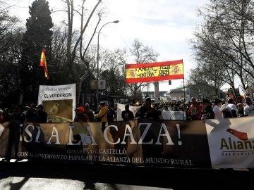 Vista de la manifestación bajo el lema 'Por el respeto al mundo rural y sus tradiciones'
