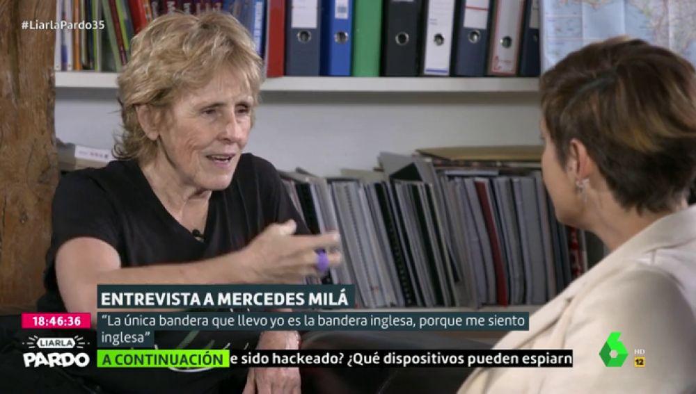 """Mercedes Milá: """"La única bandera que llevo es la inglesa, porque me siento inglesa"""""""