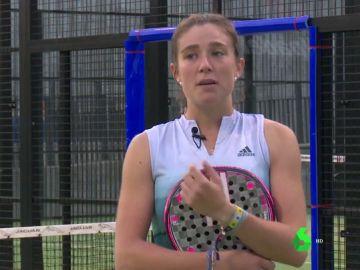 Marta Ortega, jugadora de pádel profesional