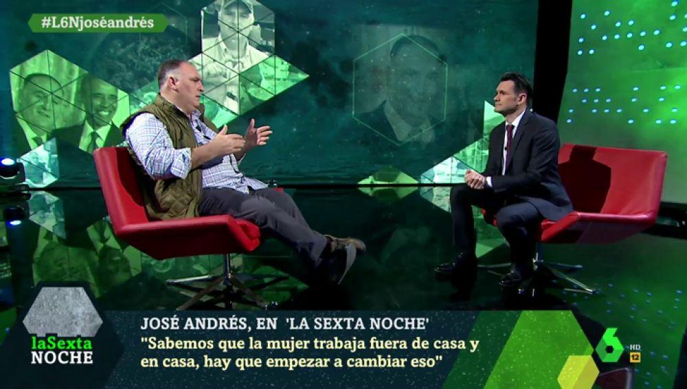 """El alegato del chef José Andrés a favor de las mujeres: """"Pagaría un salario a todas aquellas que trabajan sacando adelante las familias"""""""