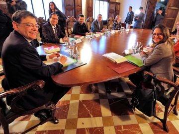 El Gobierno valenciano se ha reunido en el Palau de la Generalitat