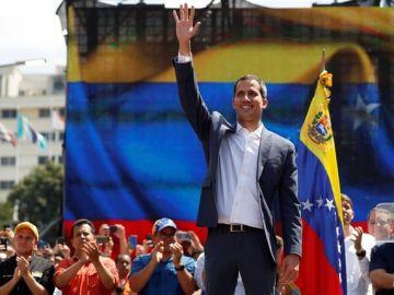El presidente de la Asamblea Nacional de Venezuela, Juan Guaidó