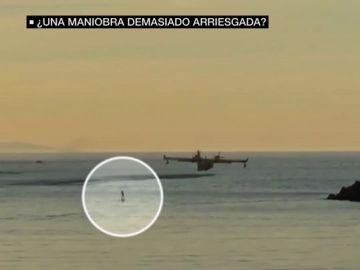 El Ejército del Aire defiende que la maniobra del hidroavión en La Concha era segura y no supuso ningún peligro