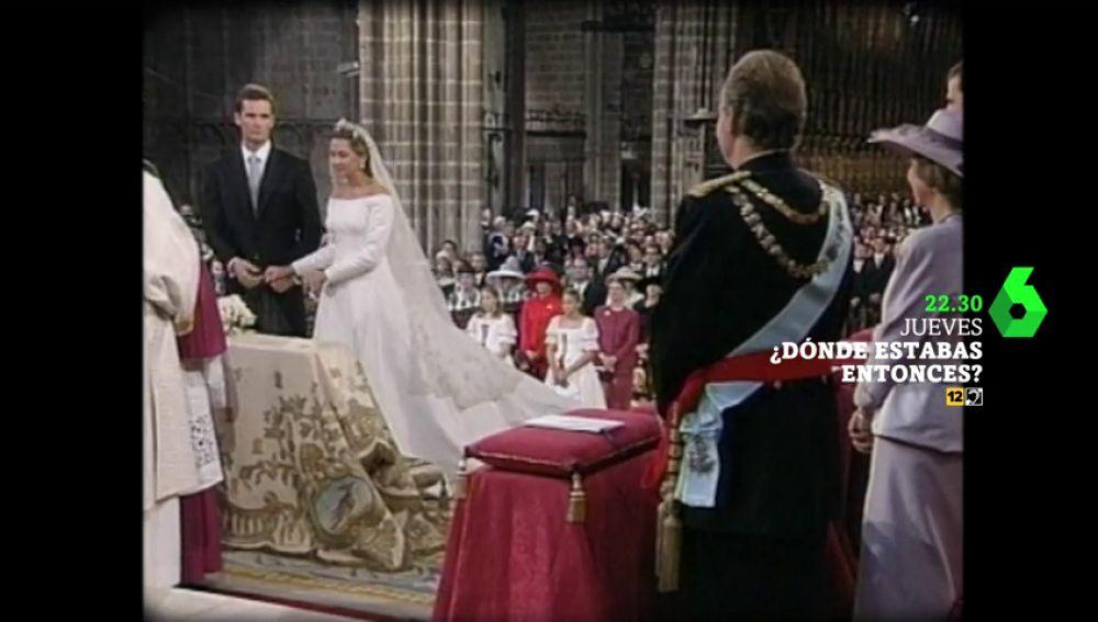 Ana Pastor recuerda este jueves en Dónde estabas entonces uno de los momentos más sonados del 1997: la boda de la infanta Cristina e Iñaki Urdangarín