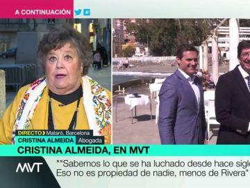 """Cristina Almeida: """"El feminismo no es propiedad de nadie, menos de Albert Rivera"""""""
