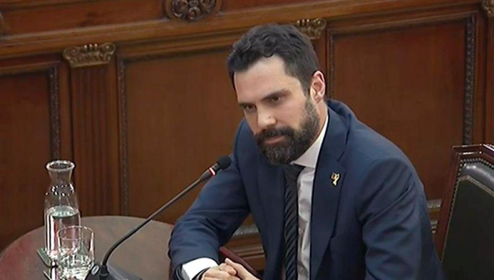 El presidente del Parlament catalán, Roger Torrent