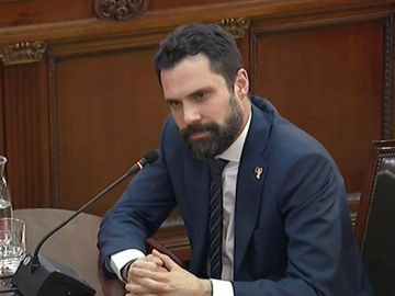 El presidente del Parlament catalán, Roger Torrent