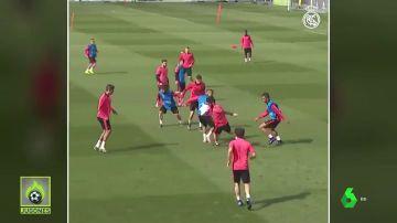 El jugadón de Isco en el entrenamiento del Real Madrid que se ha hecho viral