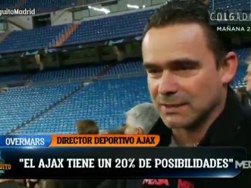 """Marc Overmars, director deportivo del Ajax: """"Es un partido para que nuestros jugadores disfruten. Tenemos un 20% de posibilidades"""""""