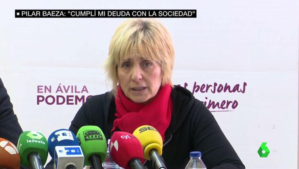 """VIDEO REEMPLAZO   Habla Pilar Baeza, candidata de Podemos condenada como cómplice de asesinato: """"No acepto chantajes ni me vendo"""""""
