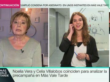 """El rotundo consejo de Celia Villalobos a Noelia Vera: """"Lo que les gusta a los políticos es poner a dos tías matándose vivas para ellos llegar"""""""