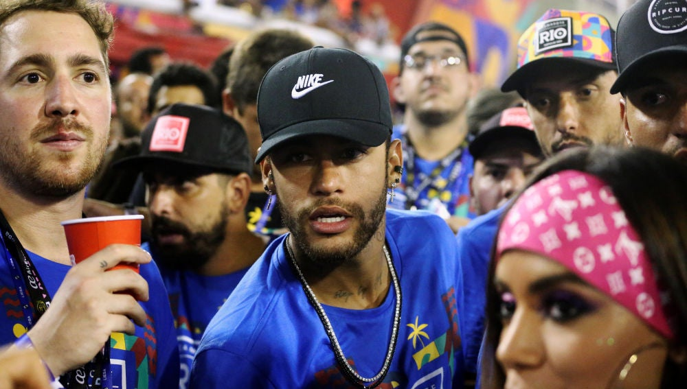 Neymar, en el Sambodromo de Río de Janeiro