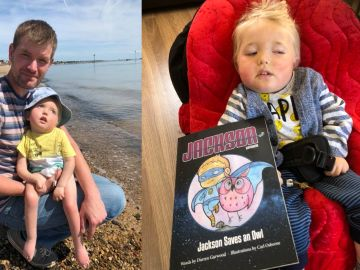 Un padre convierte a su hijo enfermo terminal en un superérhoe de cómic para no olvidarle nunca