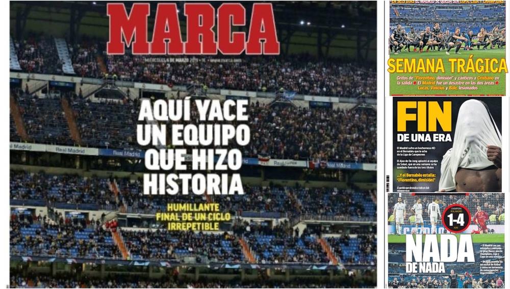La eliminación del Real Madrid, en la prensa deportiva