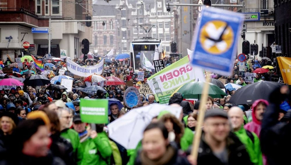 Manifestación en Ámsterdam