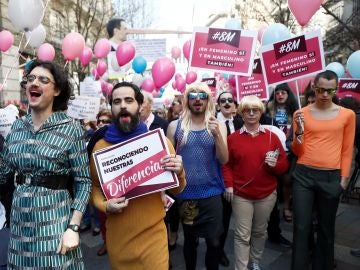 "Un momento de la manifestación convocada por la plataforma ""Women of the World"""