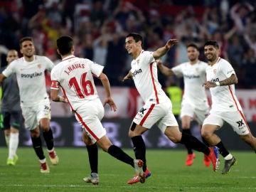 Ben Yedder celebra un gol