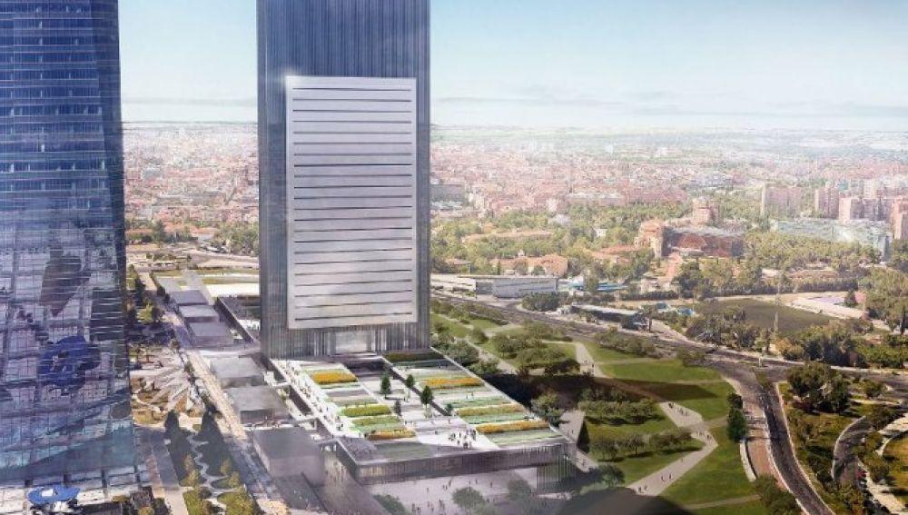 Maqueta digital de la Quinta Torre del Paseo de la Castellana