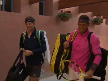 Rafa Nadal llega tarde a su primer partido del Indian Wells
