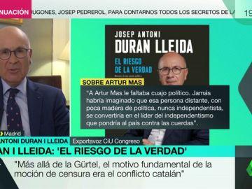 """Duran i Lleida: """"Los catalanes han sido engañados por los independentistas que decían que esto era pan comido"""""""