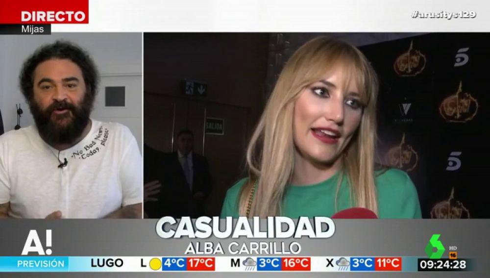 """El Sevilla pide perdón a Alba Carrillo por sus palabras sobre su relación con Courtois: """"Fui uno de los que dijo que ella era gafe"""""""