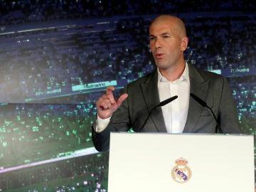 Zidane, en su presentación como entrenador del Real Madrid