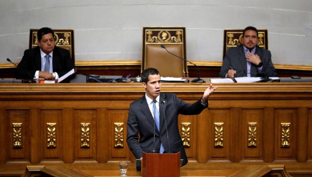 Juan Guaidó en el Parlamento venezolano