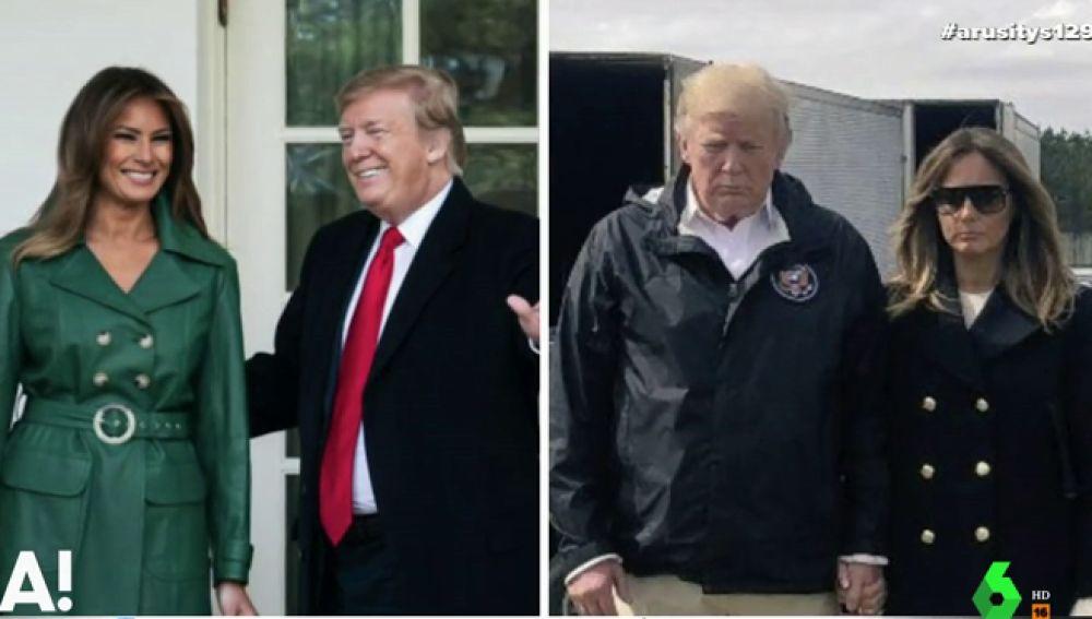 Los detalles que podrían confirmar que una doble sustituye a Melania Trump en los actos oficiales