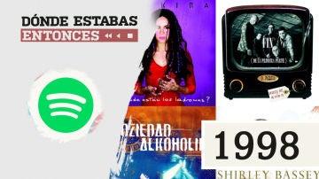 Lista reproducible: Shakira, Julio Iglesias o Siniestro Total, entre los éxitos de Dónde estabas entonces 1998