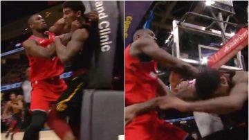 Agresión de Ibaka a un rival de los Cavaliers