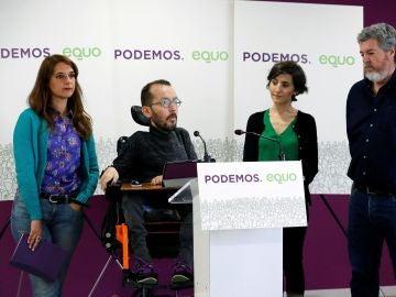 Rueda de prensa de Podemos-Equo