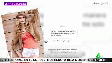 """Alba Carrillo muestra el acoso que sufre en las redes sociales: """"Eres una trepa, payasa"""""""