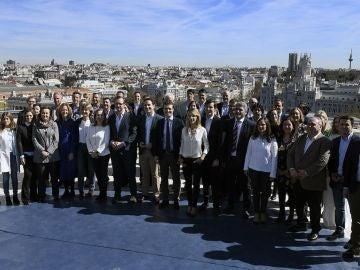 Pablo Casado junto a sus cabeza de lista para las elecciones generales en Madrid