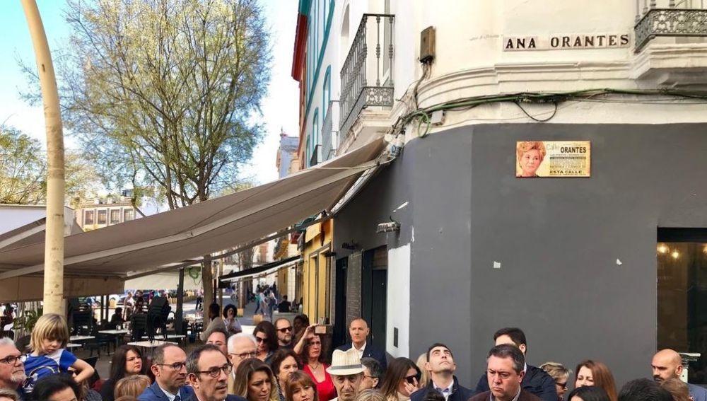 Calle de Ana Orantes en Sevilla