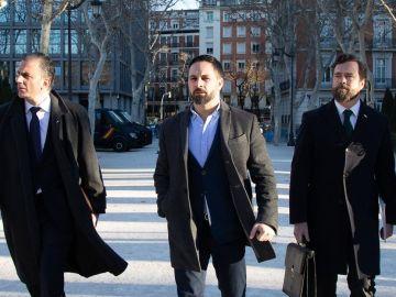 Javier Ortega Smith, Santiago Abascal e Iván Espinosa de los Monteros