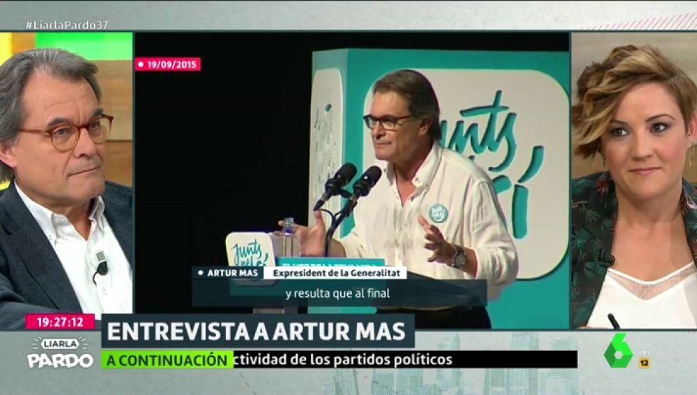 """Artur Mas insiste en su idea de que los bancos """"estarían ahí"""" con una Cataluña independiente aunque la realidad le desmiente"""
