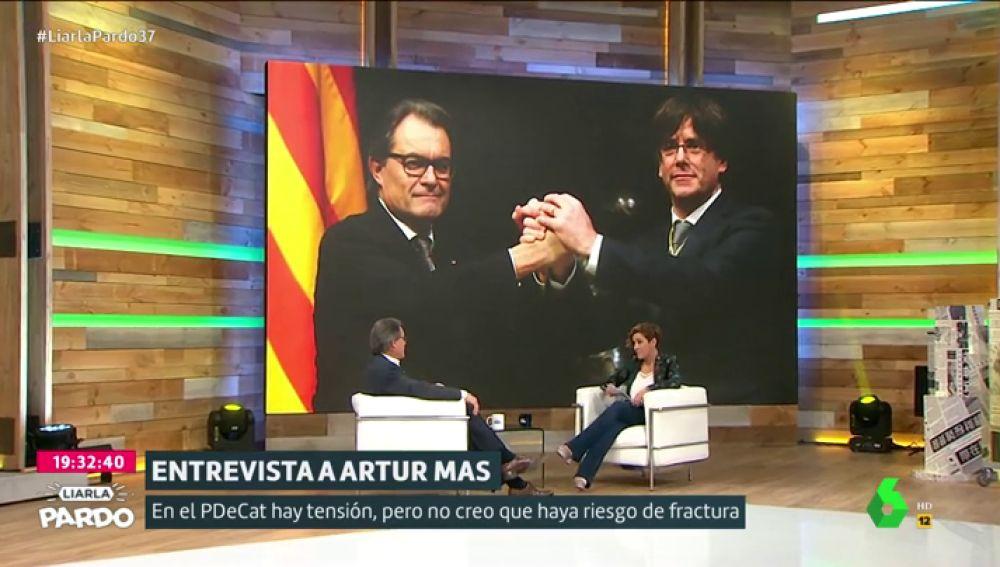 """Artur Mas reconoce la """"disfunciones internas"""" en el PDeCAT: """"Hay tensión pero creo que riesgo de fractura no"""""""