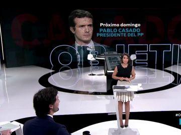Pablo Casado visita El Objetivo el próximo domingo a las 22:30
