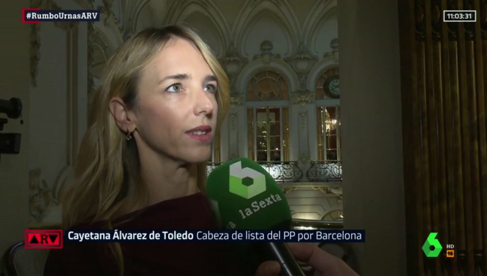 Cayetana Álvarez de Toledo, número uno del PP por Barcelona