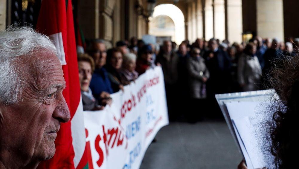 Los pensionistas donostiarras han vuelto a movilizarse