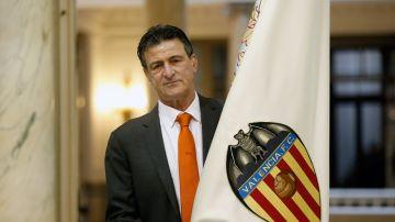 Mario Kempes, en la celebración del centenario del Valencia